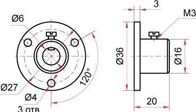 Латунный фланец для биметаллического термометра