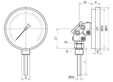 Схема термометраБТ-54.220 с ЭКП