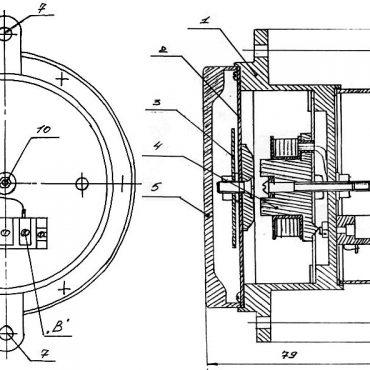 Сирена сигнальная СС-1 чертеж и габаритно-присоединительные размеры