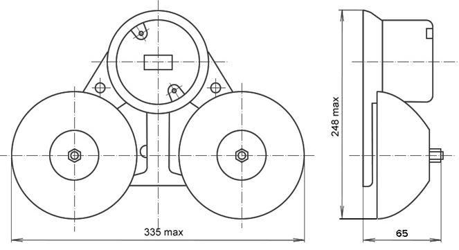 Оповещатель МЗМ-1 чертеж, габаритно-присоединительные размеры