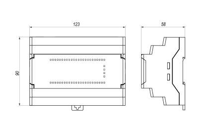 Габаритные размеры реле ПР-102