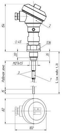Габаритные размеры ПП РИС-101СКБ-005/005И
