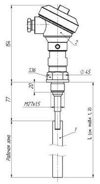Габаритные размеры ПП РИС-101СКБ-012/012И
