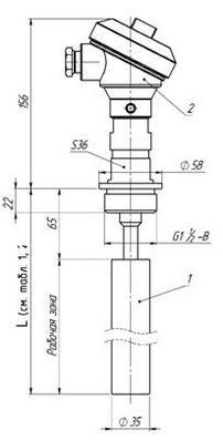 Габаритные размеры ПП РИС-101СКБ-016/016И