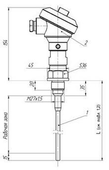 Габаритные размеры ПП РИС-101СКБ-025/025И
