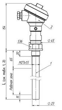 Габаритные размеры ПП датчика-индикатора РИС-101СКБ-064(И),-066(И),-083(И),-084(И)