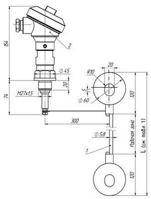 Габаритные размеры ПП РИС-101СКБ-095/095И