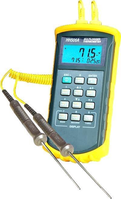 Двухканальный измеритель температуры HH506RA купить в наличии и по низким ценам
