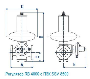 Регулятор RB 4000 с ПЗК SSV 8500
