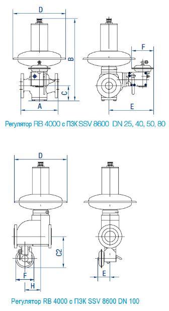 Регулятор RB 4000 с ПЗК SSV 8600