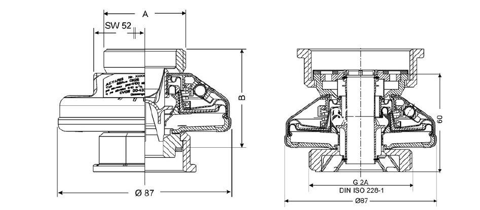 Регулятор давления газа SERus (ITRON / Actar) чертеж