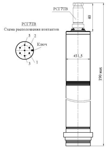 Датчик МИДА-ДИ-12П-05-К с разъемом