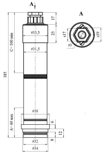 Датчик МИДА-ДИ-12П-05-К с прямым сальниковым вводом