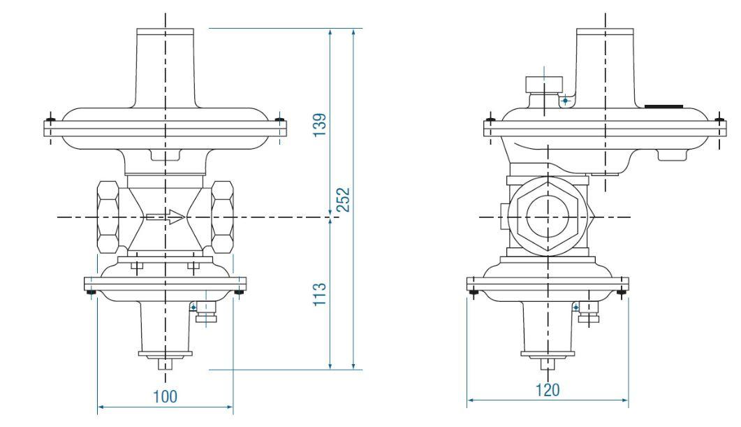 RB 2000 вариант исполнения без ПЗК – вес 2 кг.