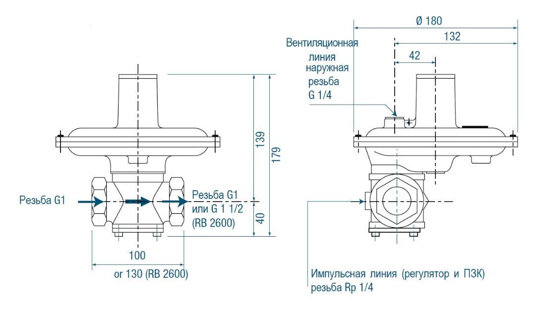 RB 2000 вариант исполнения с ПЗК – вес 2,5 кг.