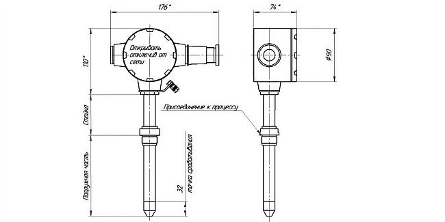 Габариты. СЖУ-1(УСУ-1-П) сигнализатор с подогревом