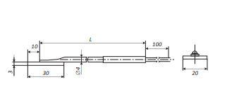 Габаритные размеры термопар КТХА, КТХК, КТНН-0299