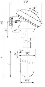Термопары ТХА/ТНН-0196-К,-01К, конструктивное исполнение и размеры
