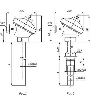 Термопары ТНН-0199К,ТНН-0199-01-К, конструктивное исполнение и размеры