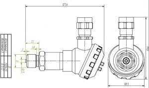 Габаритные размеры датчиков ДДМ-1020