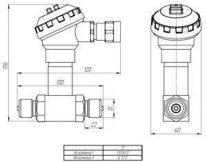 Габаритные размеры датчиков ДДМ-1122