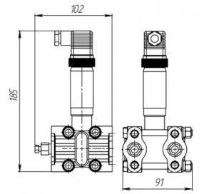 Габаритные размеры датчиков ДДМ-1312