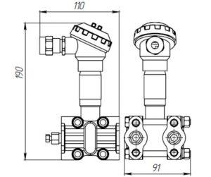Габаритные размеры датчиков ДДМ-1322