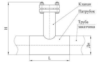 Чертеж и габаритные размеры индикатора коррозии ИКТ-60