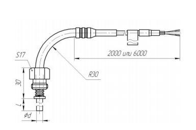 Рисунок термопары ТХА/ТХК-0193-04С