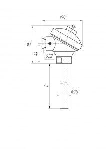 Конструктивное исполнение (рисунок) термопар ТХА/ТХК/ТЖК-0192К