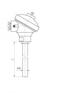 Конструктивное исполнение (рисунок) термопар ТХА/ТХК/ТЖК/ТНН-0192-К-М1