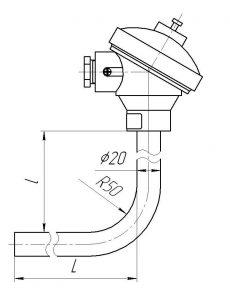 Рисунок термопары ТХА/ТЖК-0192-СК, -1392-СК
