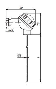 Конструктивное исполнение термопар ТНН/ТХА-П-К