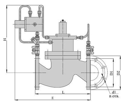 """Регуляторы давления """"до себя"""" (АРТ-85), Ду 40-200, с поршневым приводом и предохранительным устройством"""