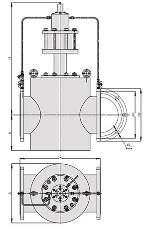 Регуляторы перепада давления (АРТ-86), Ду 300, с поршневым приводом