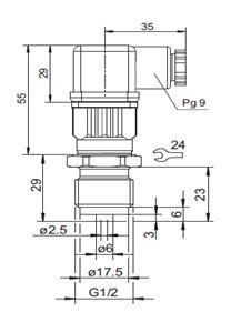 Габаритные размеры датчиков давления Пульс-05