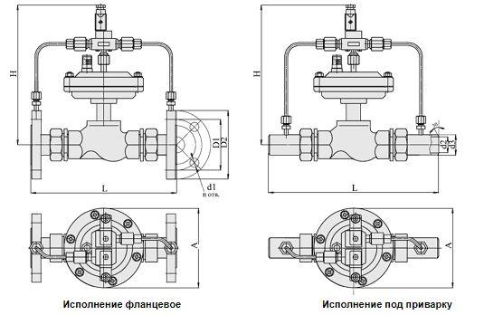Клапаны запорно-регулирующие с электромагнитным приводом (АГТ-71), Ду 15-32, с мембранным приводом