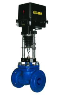 Клапаны запорно-регулирующие с электроприводом (АГТ-53)