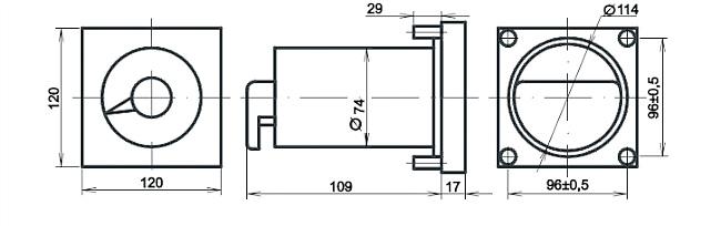 Габариты. Мегомметры М1428.1 (М1428) и М1628.1 (М1628)