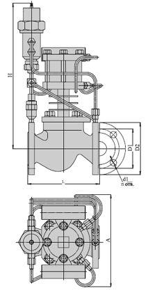 Регуляторы давления на пар (АРЖ-85), Ду 40-200, с поршневым приводом