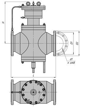 Регуляторы перепада давления с ограничением расхода (АРТ-86), Ду 150-200, с мембранным приводом