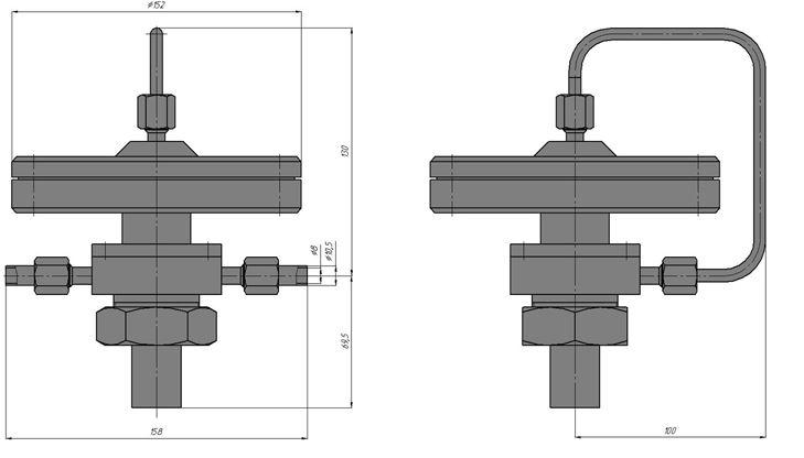 Регуляторы перепада давления с ограничением расхода (АРТ-86), Ду 8, с мембранным приводом