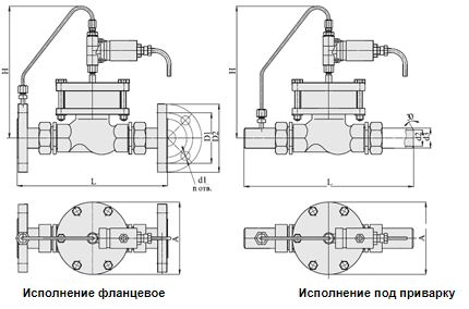Клапаны запорные с электромагнитным приводом, АЗТ-70, НО, Ду 15-32, с поршневым приводом