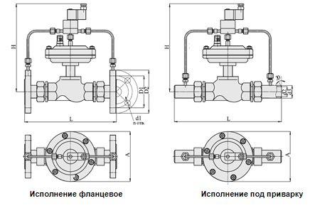 Клапаны запорные с электромагнитным приводом, НЗ, АЗТ-70, Ду 15-32, с мембранным приводом