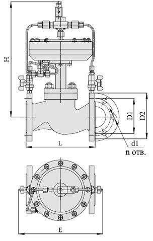Клапаны запорные с электромагнитным приводом, НЗ, АЗТ-70, Ду 40-50, с мембранным приводом