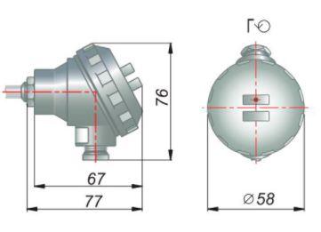 Стандартное исполнение металлическая головка