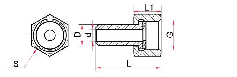 Ниппель-D14 Гайка М20х1,5