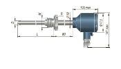 Конструктивное исполнение (рисунок) термопреобразователей ДТС-065/-075/-085.Д-PT100.И-EXD
