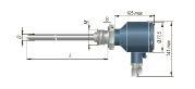 Конструктивное исполнение (рисунок) термопреобразователей ДТС-105.Д-PT100.И-EXD