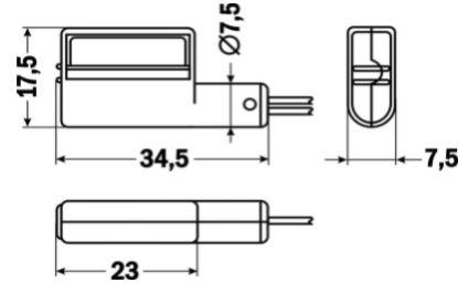 Датчик потока воздуха ДРП-В-300.0(НЗ),-300.1(НО) чертёж
